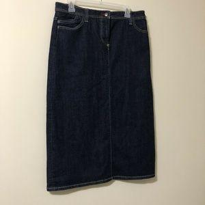 Boden A-Line Denim Skirt Size 14R Pockets Blue